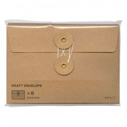 Sobres KRAFT M Horizontal Original Traveler´s Company Color Marrón Natural String Envelope 85674