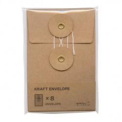 Sobres KRAFT S Vertical Original Traveler´s Company Color Marrón Natural String Envelope 85677