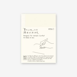 Cuaderno MD Notebook [A6] Liso Blank English Caption- 15184